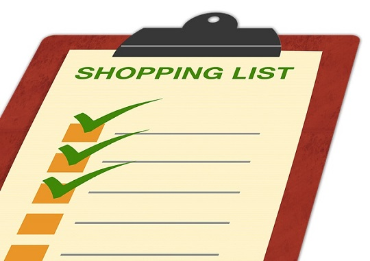 tips for grocery shopping - make a list