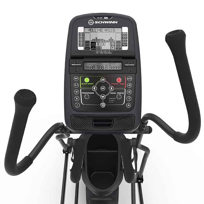 Schwinn 430 elliptical main console