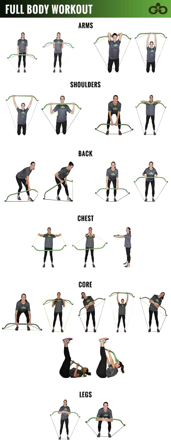Quick exercise chart of the bow